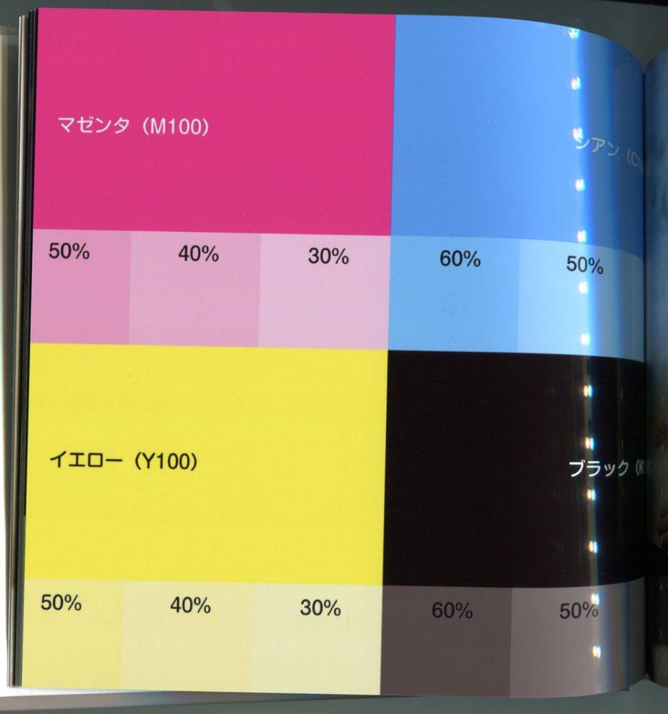 プレミアム光沢仕上げの印刷色見本