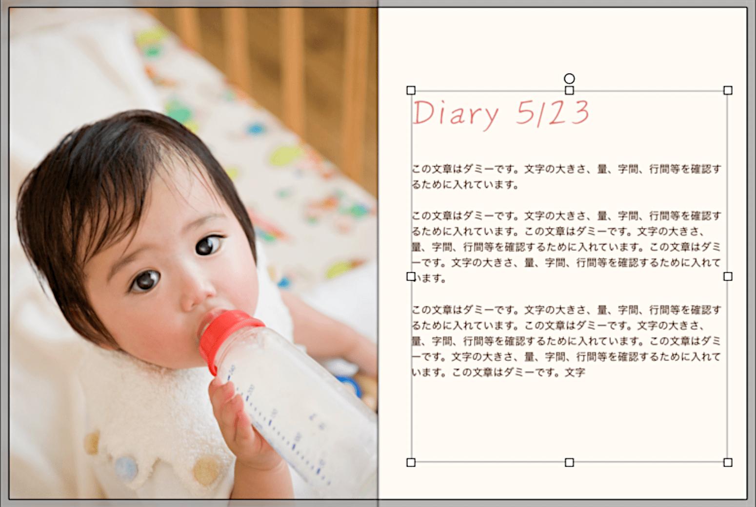 日記風に作れるフォトブック2選