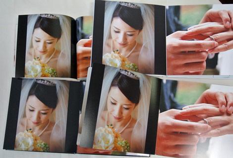 結婚式のフォトブック8社を同じ画像で印刷して比較。