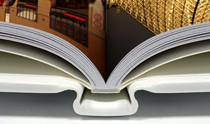糸綴じ ・ 無線綴じ ・ リング綴じ ・ 合紙綴じ ・ レイフラット製本の解説と比較