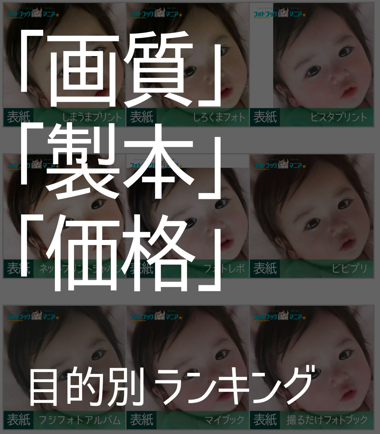 「目的別」フォトブックマニアおすすめランキング2017まとめ(画質・製本・値段)