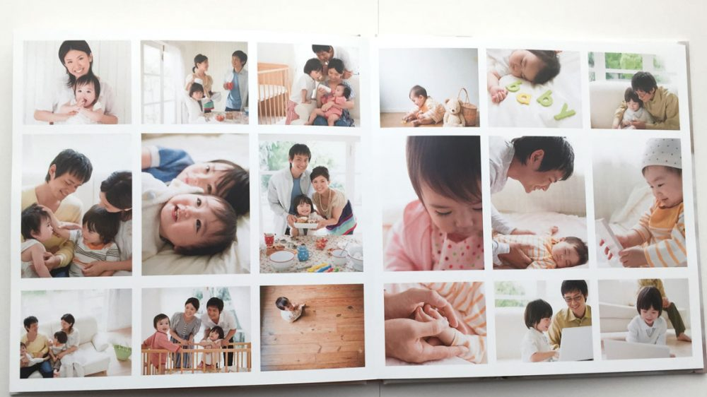 写真をたくさん配置できるフォトブック