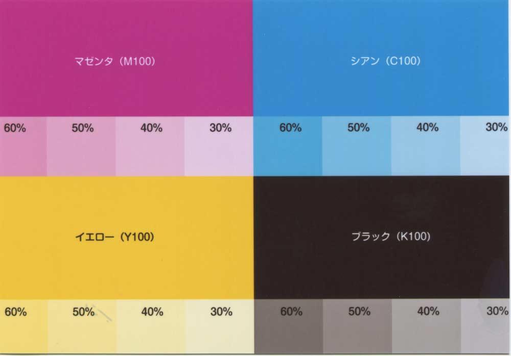 しまうま プロ仕上げ高級プリントの画質(自動補正あり):色見本