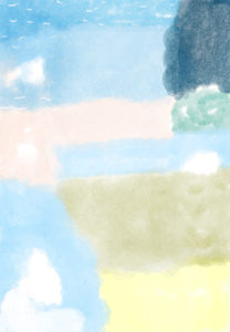 夏休みのフォトブックスタンプ素材:背景・海・空