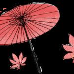 七五三のフォトブック素材:傘・紅葉
