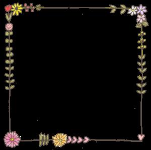 赤ちゃんのフォトブックスタンプ素材:枠・フレーム・花