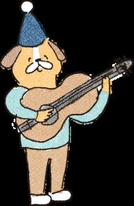 誕生日のフォトブックスタンプ素材:ギター・演奏