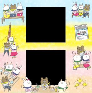 【限定配布】友達のフォトブックテンプレート&装飾スタンプ素材!
