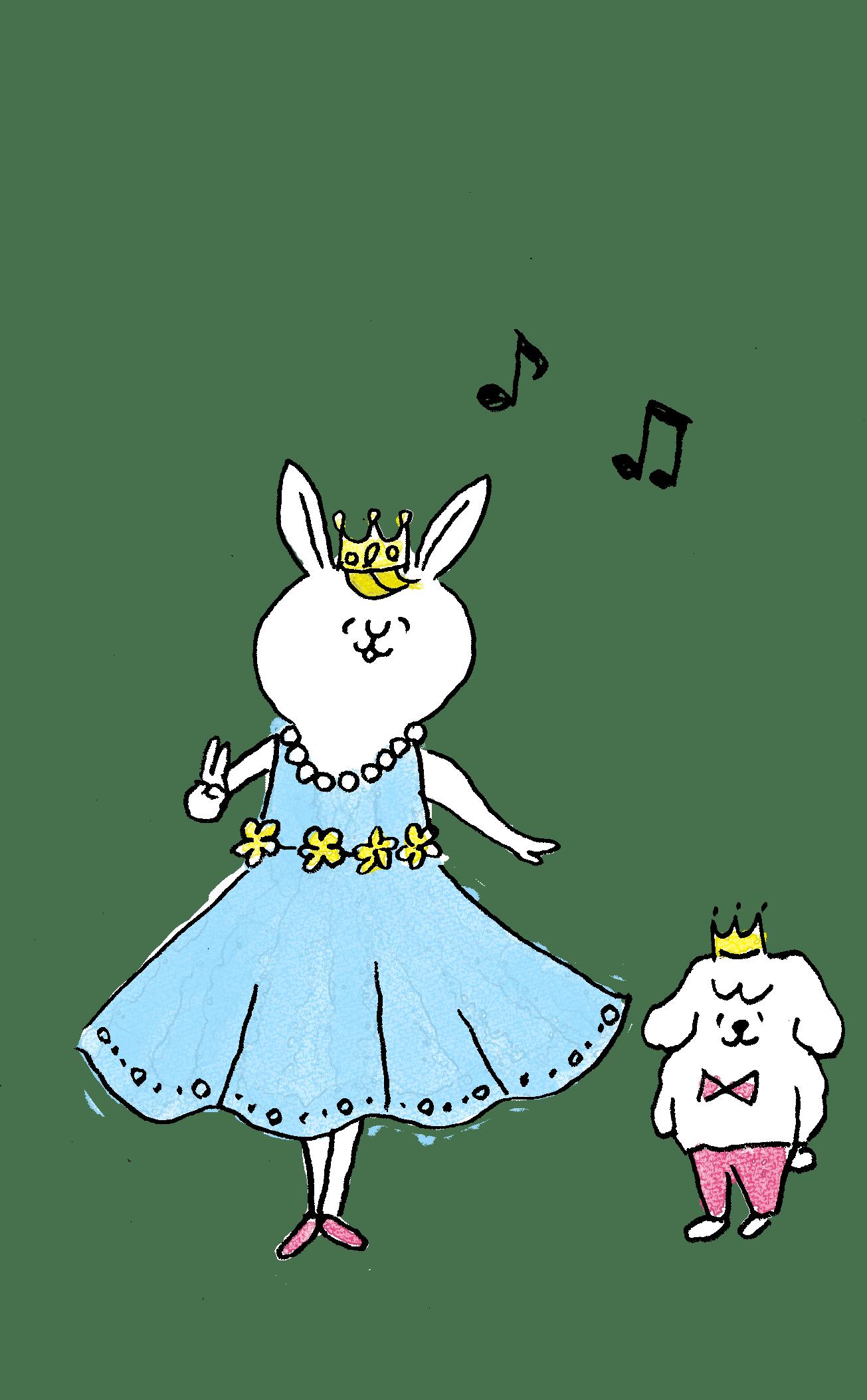 子供のフォトブックスタンプ素材:お姫様・王子様・親子