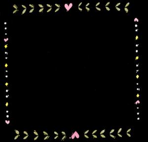子供のフォトブックスタンプ素材:枠・フレーム・ハート・ダイヤ