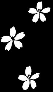 卒園式のフォトブックスタンプ素材:桜・花
