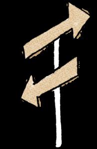 旅行のフォトブックスタンプ素材:矢印・看板・方向・方角