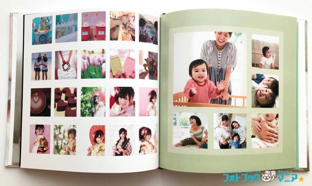 パーフェクトフォト 写真数が多いテンプレート(子供のフォトブックやインスタ記録用に)