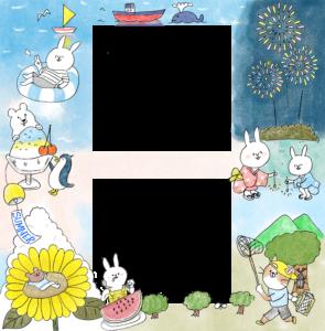 【限定配布】夏休みのフォトブックテンプレート&スタンプ素材!
