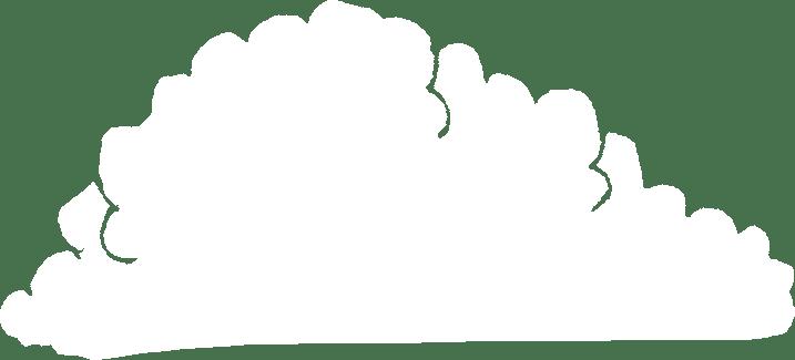赤ちゃんの成長記録のフォトブックスタンプ素材:雲