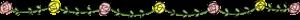 赤ちゃんの成長記録のフォトブックスタンプ素材:罫線・花・薔薇