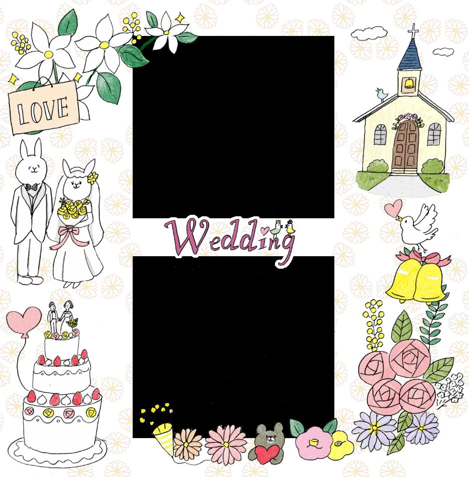 結婚式のフォトブックテンプレート ビスタプリント スクエアサイズ