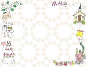 結婚式のフォトブックテンプレート ビスタプリント 横長サイズ(背景用 / スマホで使用可能)