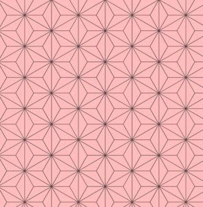 麻の葉模様・ピンク・七五三・背景