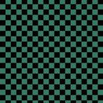 市松模様・黒×緑