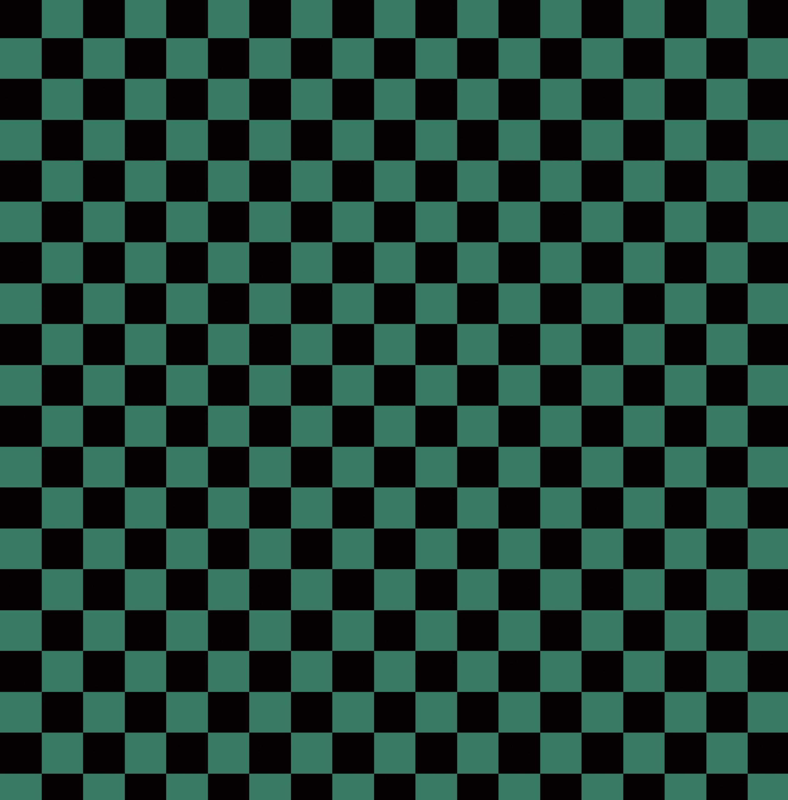 市松模様・黒×緑・七五三・背景