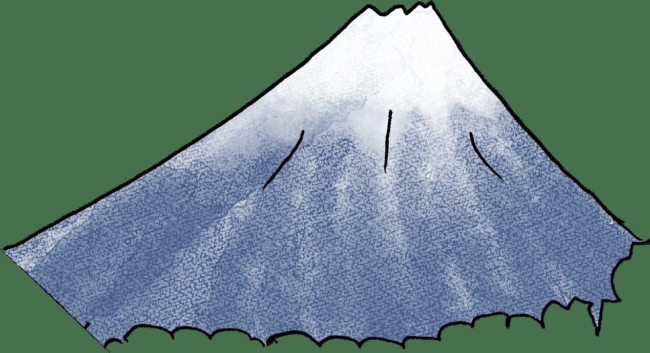 赤ちゃん・出産のフォトブックスタンプ素材:富士山