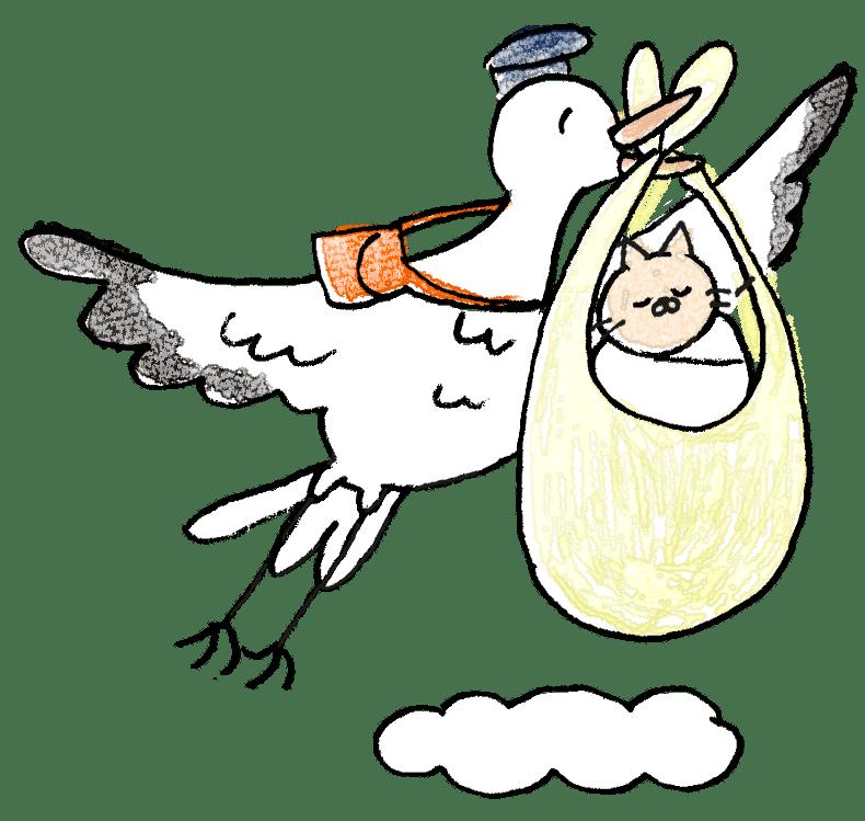 赤ちゃん・出産のフォトブックスタンプ素材:こうのとり・出産・赤ちゃん