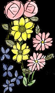赤ちゃん・出産のフォトブックスタンプ素材:花・薔薇