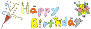 Happy Birthday(お誕生日おめでとう):誕生日のフォトブックスタンプ素材・タイトル