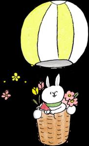 気球:誕生日のフォトブックスタンプ素材