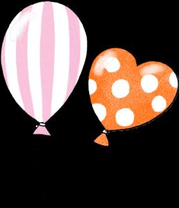 風船:誕生日のフォトブックスタンプ素材