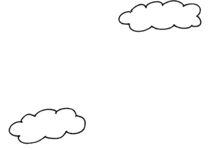 雲:誕生日のフォトブックスタンプ素材