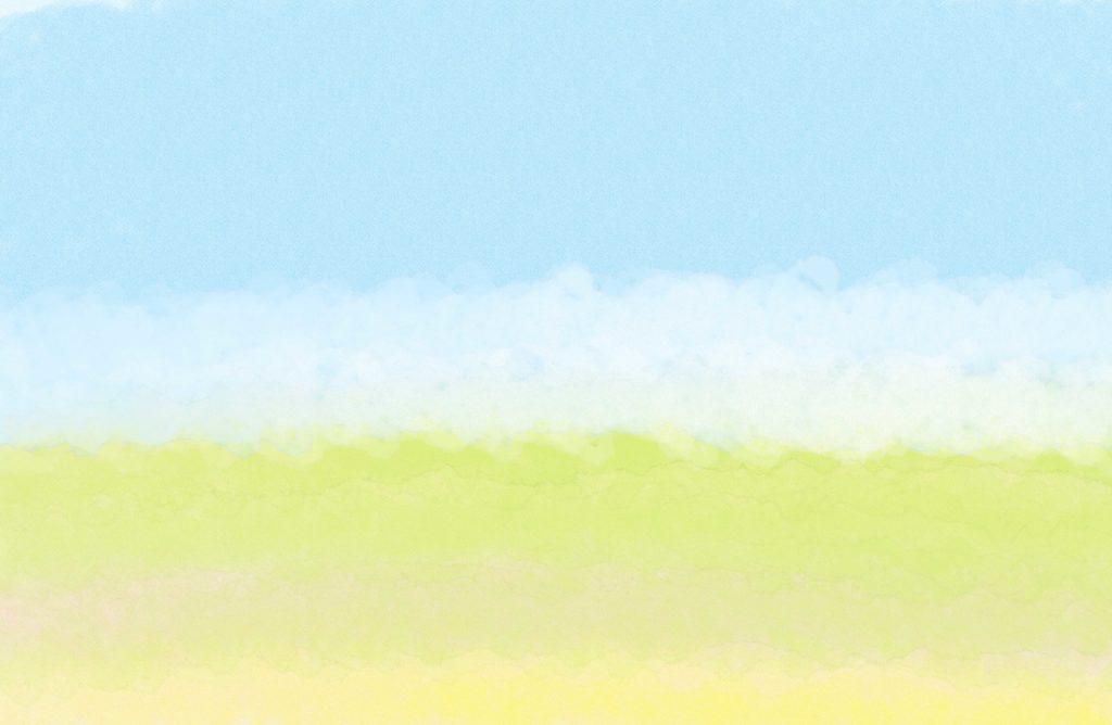 背景・空・芝生:誕生日のフォトブックスタンプ素材