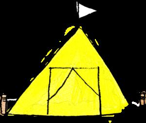 子供(男の子向け)のフォトブックスタンプ素材:テント