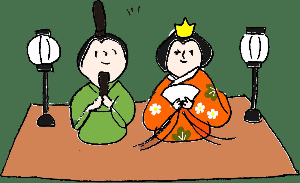 ひなまつり・お雛様・お内裏様:子供(女の子向け)のフォトブックスタンプ素材