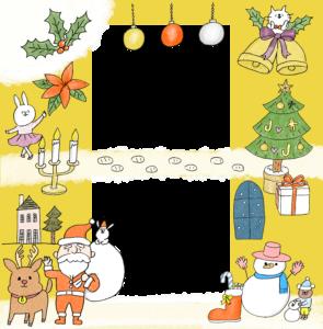 【限定配布】クリスマスのフォトブックテンプレート&装飾スタンプ素材!