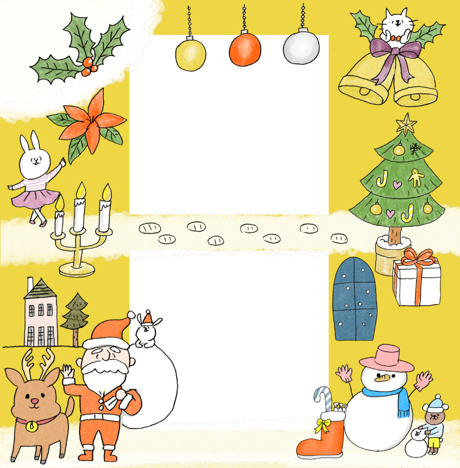 クリスマスのフォトブックテンプレート ビスタプリント スクエアサイズ