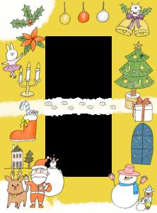 クリスマスのフォトブックテンプレート ビスタプリント 縦長サイズ