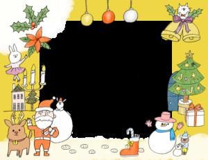 クリスマスのフォトブックテンプレート ビスタプリント 横長サイズ