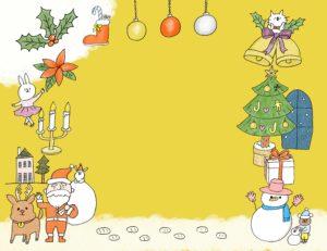 クリスマスのフォトブックテンプレート ビスタプリント 横長サイズ(背景用 / スマホで使用可能)
