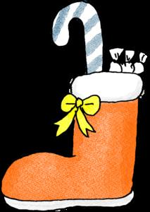 ブーツ・プレゼント:クリスマスのフォトブックスタンプ素材