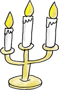 蝋燭・キャンドル:クリスマスのフォトブックスタンプ素材