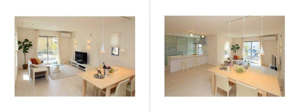 左右の写真を同じ広さの余白をとったレイアウト