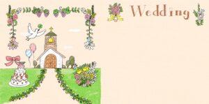 結婚式・ウエディングのフォトブックテンプレート ビスタプリント スクエアサイズ(表紙の背景用 / スマホで使用可能)