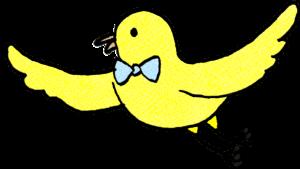 鳥:父の日のスタンプ素材