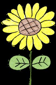 ひまわり・花:父の日のスタンプ素材