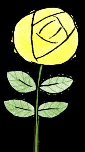 薔薇・黄色・花:父の日のスタンプ素材