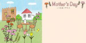 母の日のフォトブックテンプレート ビスタプリント スクエアサイズ(表紙の背景用 / スマホで使用可能)