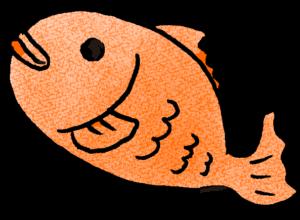 鯛・魚:プレゼント・祖父母・敬老の日・お正月・誕生日・七五三・和風のスタンプ素材
