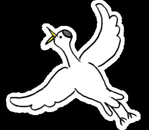 鶴・鳥:プレゼント・祖父母・敬老の日・お正月・誕生日・七五三・和風のスタンプ素材